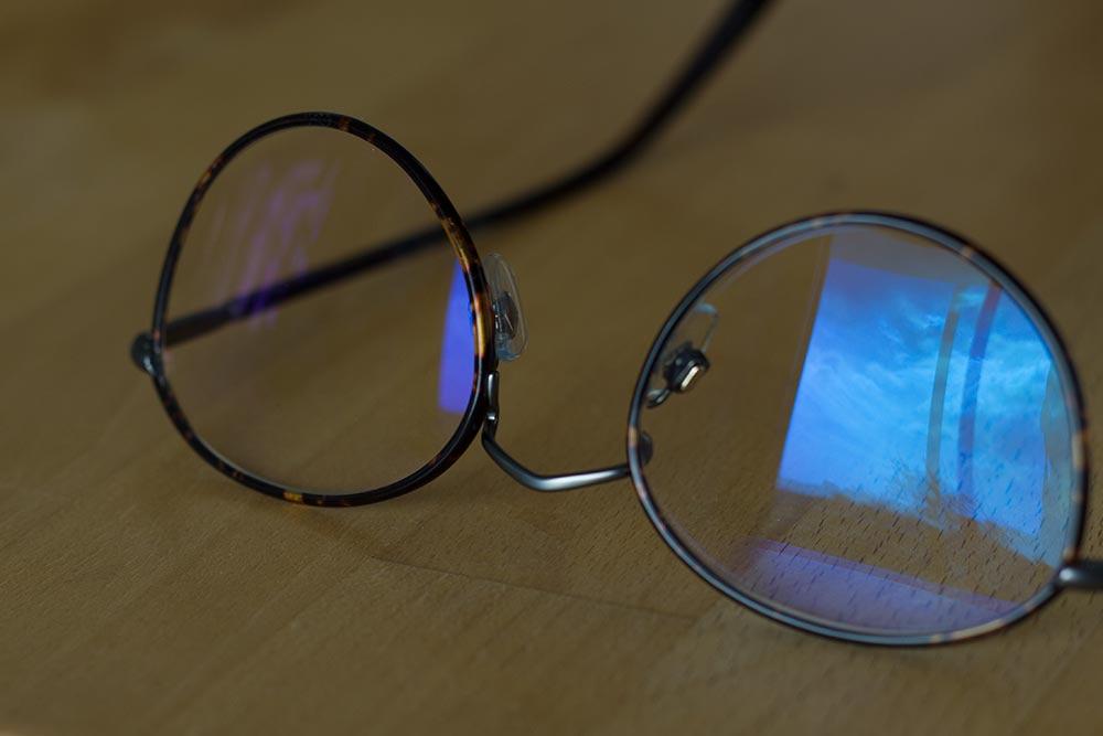 Lunettes verres anti lumiere bleue reflet ma maison - Verre anti reflet ...