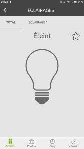 Application Delta Dore : Lumière éteinte
