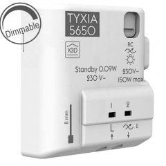lumières réglables avec le module Tyxia 5650 et la box Tydom